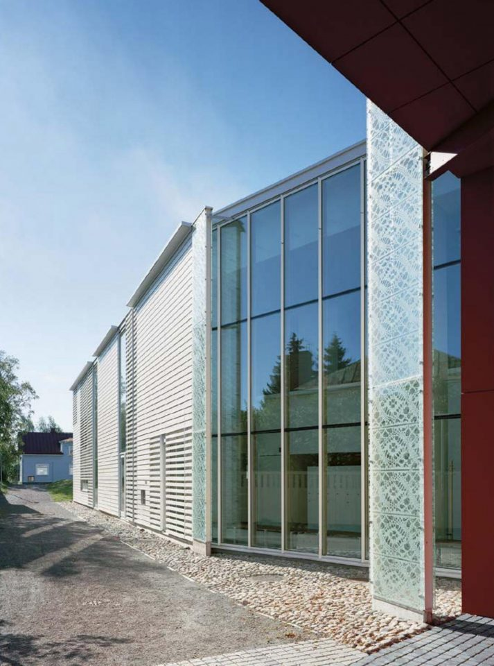 Glass elevation, Rauma Main Library