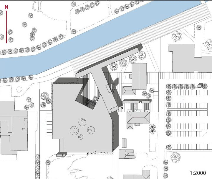 Site plan, Rauma Main Library