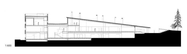 Section drawing, Ruusutorppa School