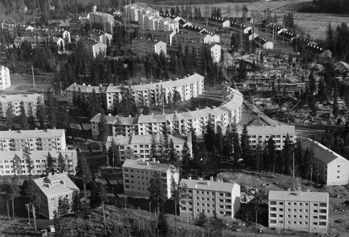 Aerial view from 1954, Sahanmäki Residential Area