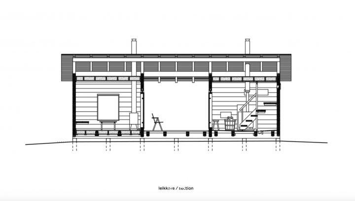 Section plan, Sauna in Fiskars
