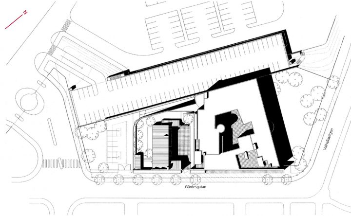 Site plan, Stockholm Embassy of Finland