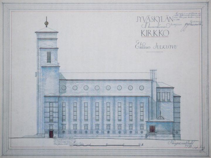 Original drawing by Elsi Borg, Taulumäki Church