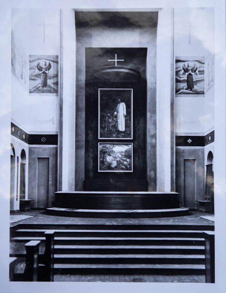 Interior in the 1930s, Taulumäki Church
