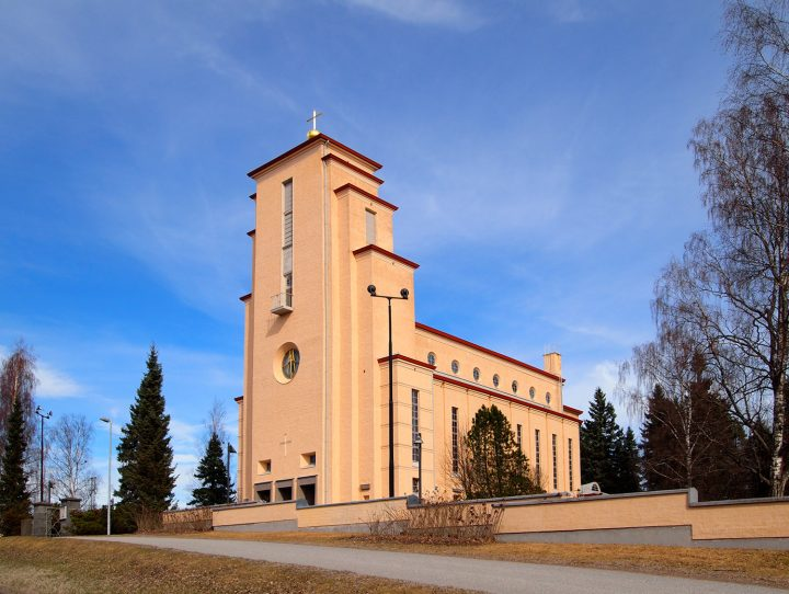 Church photographed from the west, Taulumäki Church