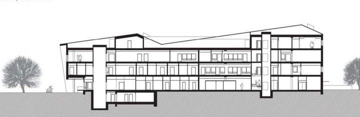 Section plan, Tervaväylä School, Lohipato Unit