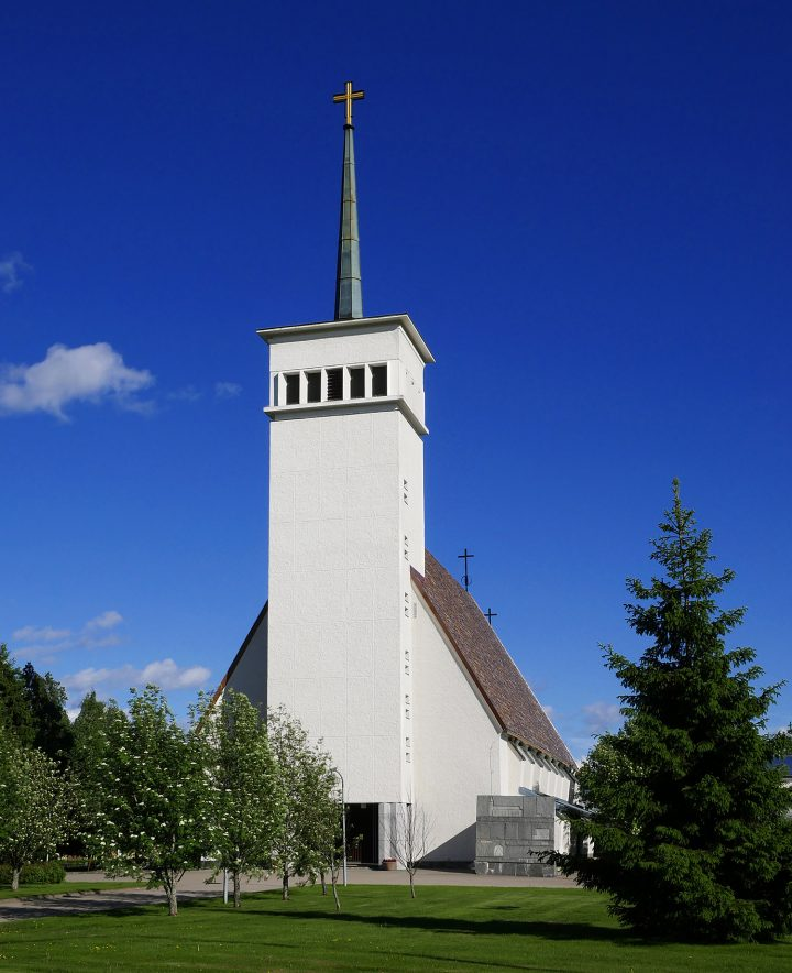 View from the south, Teuva Church