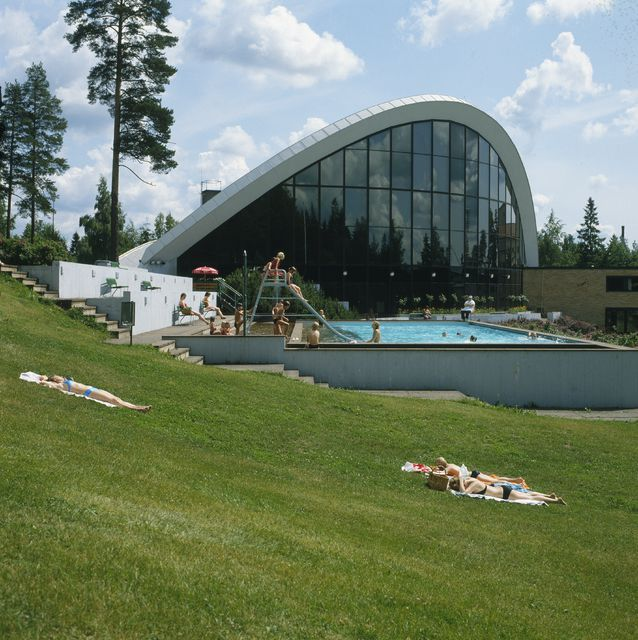 View from the north, Kouvola Sports Park Swimming Hall