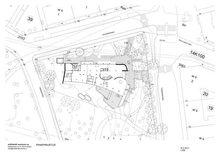 Renovation site plan, Töölö Library