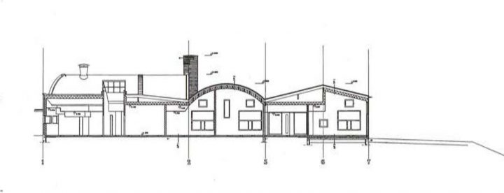 Section plan, Toppelund Daycare Centre