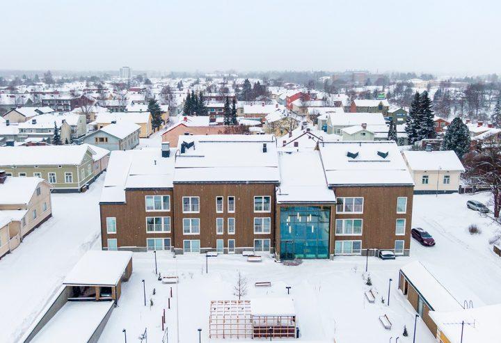 Aerial view from the east, Trekoli Senior Housing