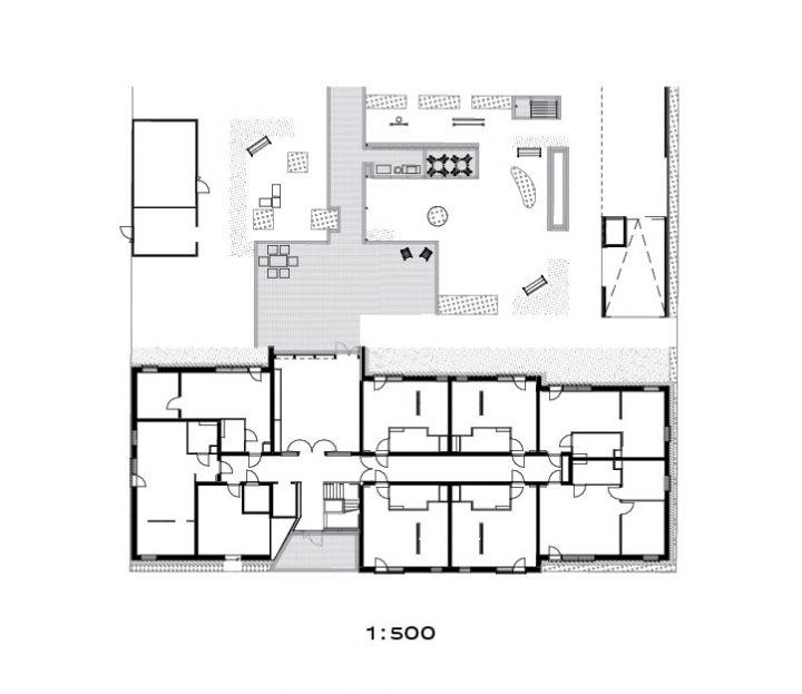Site plan and ground floor, Trekoli Senior Housing