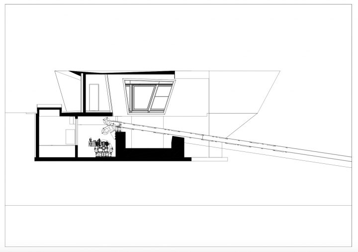 Upper station section plan, Kakola Funicular Stations