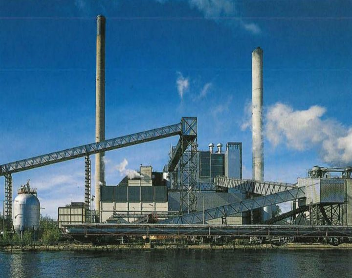 View from the Huruslahti bay, Varkaus Paper Mill Additives Processing Unit