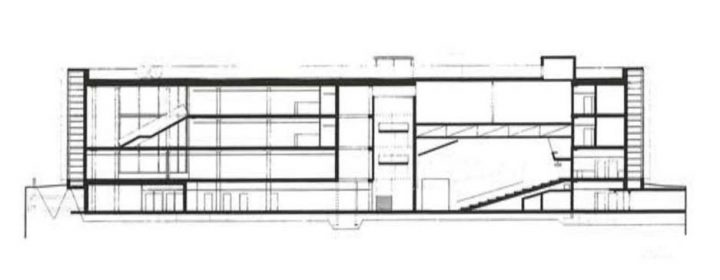 Section plan, Viikki Campus Library