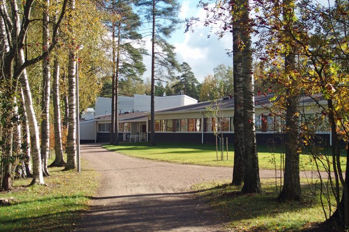 View from Silkkiniitty park, Tapiola Co-educational School