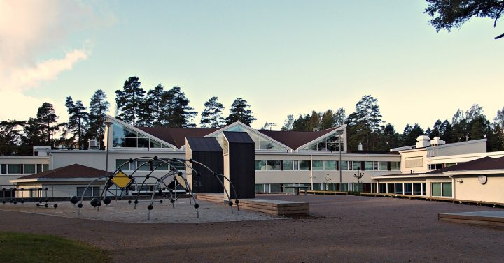 School yard after renovation in 2016, Tapiola Co-educational School