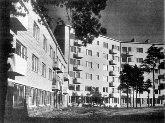 View from the yard, Women's Co-housing Asuntoyhteistalo