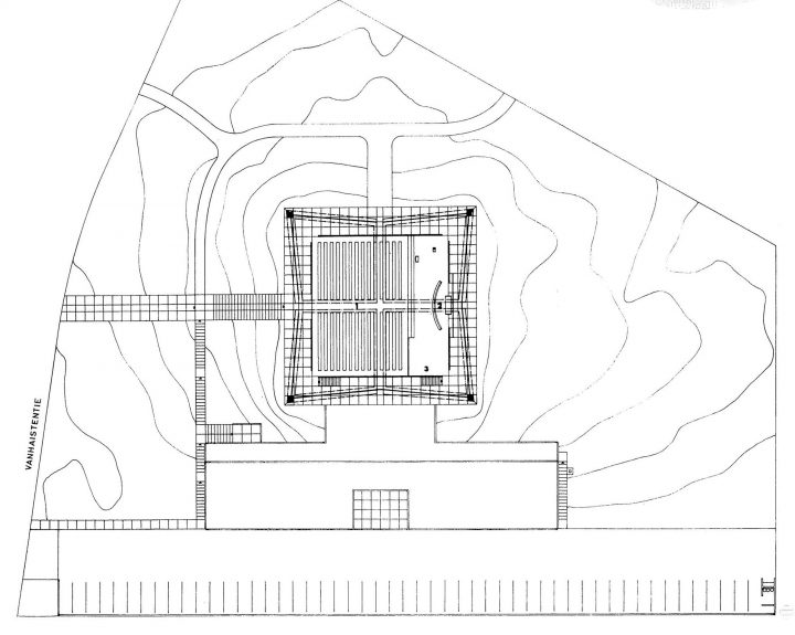 Site plan, Kannelmäki Church