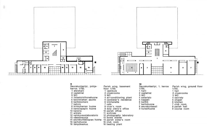Floorplans, Kannelmäki Church