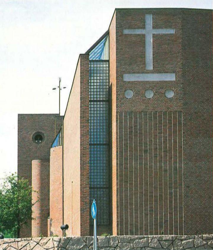 Gable facing Kirkonkyläntie, Malmi Church