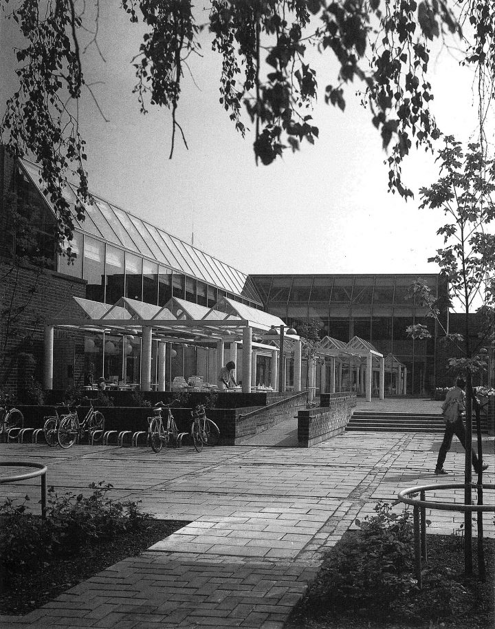 Square and canopy, Stoa Cultural Centre