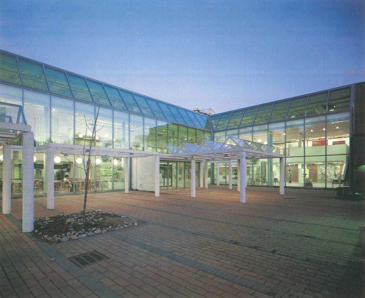 Main entrance, Stoa Cultural Centre
