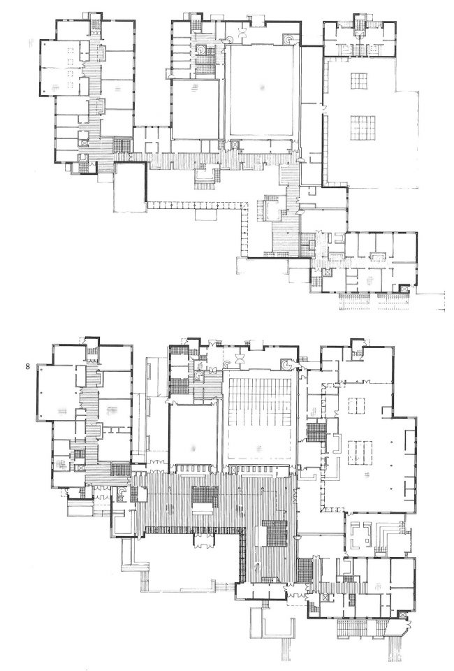 Floor plans of the ground floor and 1st floor, Stoa Cultural Centre