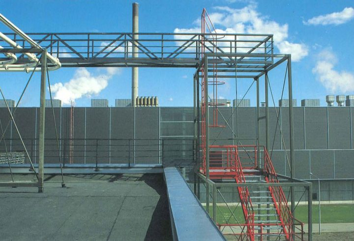 Elevation to the Huruslahti bay, Varkaus Paper Mill Additives Processing Unit