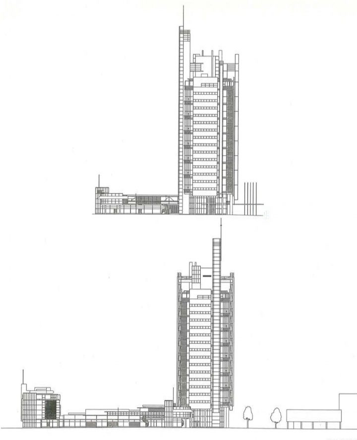 Elevation plan, Itäkeskus Landmark