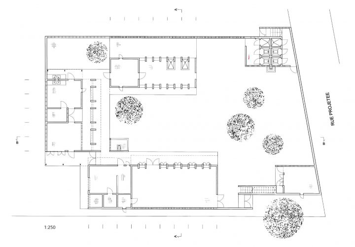 Site plan, Women's Centre