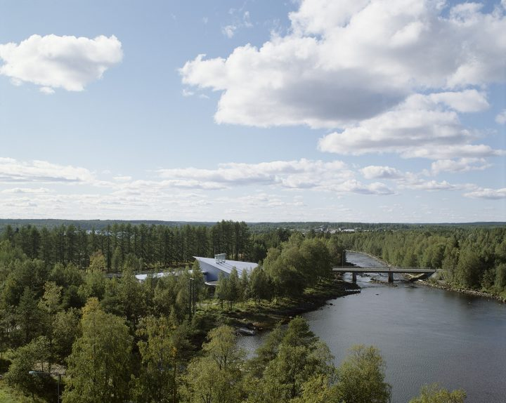 Aerial view, Kuhmo Town Library
