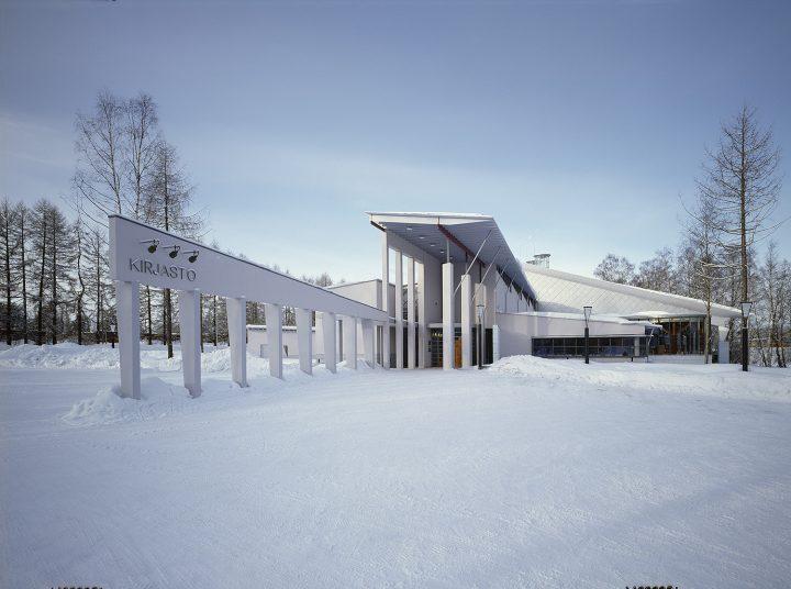 Main entrance, Kuhmo Town Library