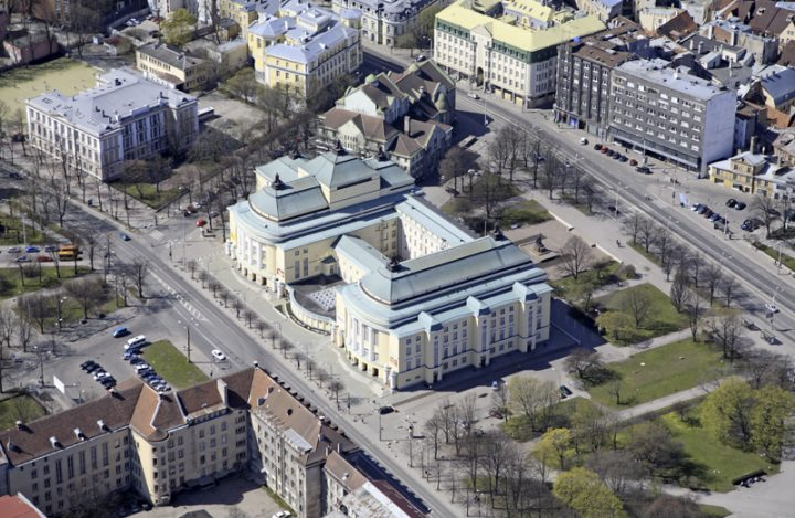 Aerial view from the 2000s, Estonia Theatre