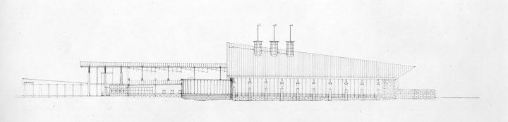 Lake elevation, Kuhmo Town Library