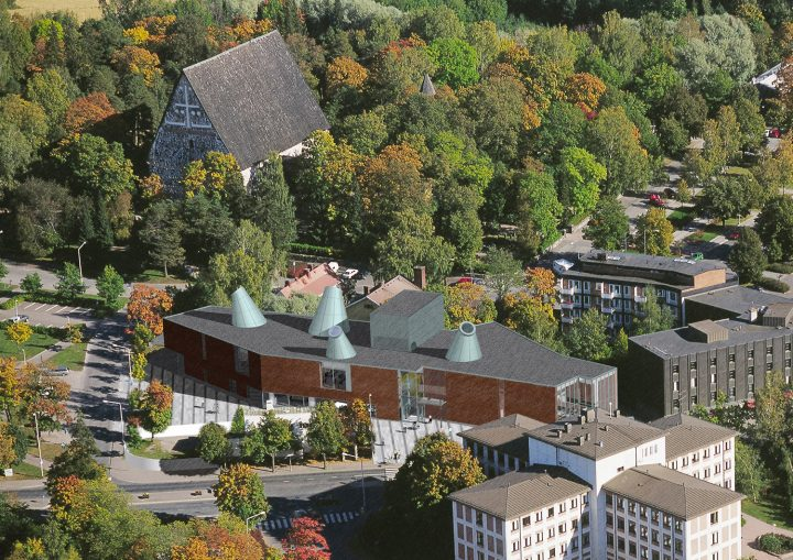 Aerial view, Lohja Main Library