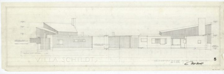 Elevation drawing, Villa Skeppet